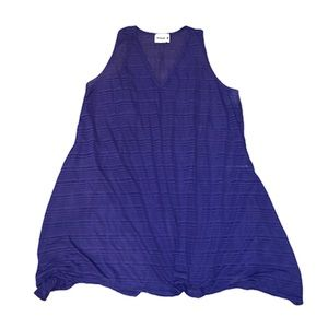 Swimsuits for All Blue Sheer Cover Up Dress
